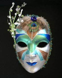 """The Protector"" Mixed Media Mask by Margo Souza."