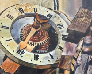 """Making Time,"" Acrylic, Complementary Therapy Art Group project"