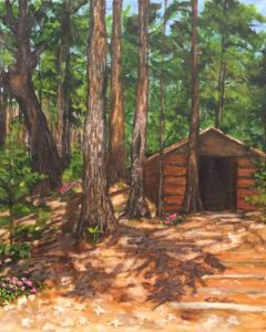 """A Day in the Woods"" Acrylic by Lori Shutler"